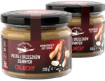 Pasta z orzeszków ziemnych Crunchy Zestaw OneDayMore