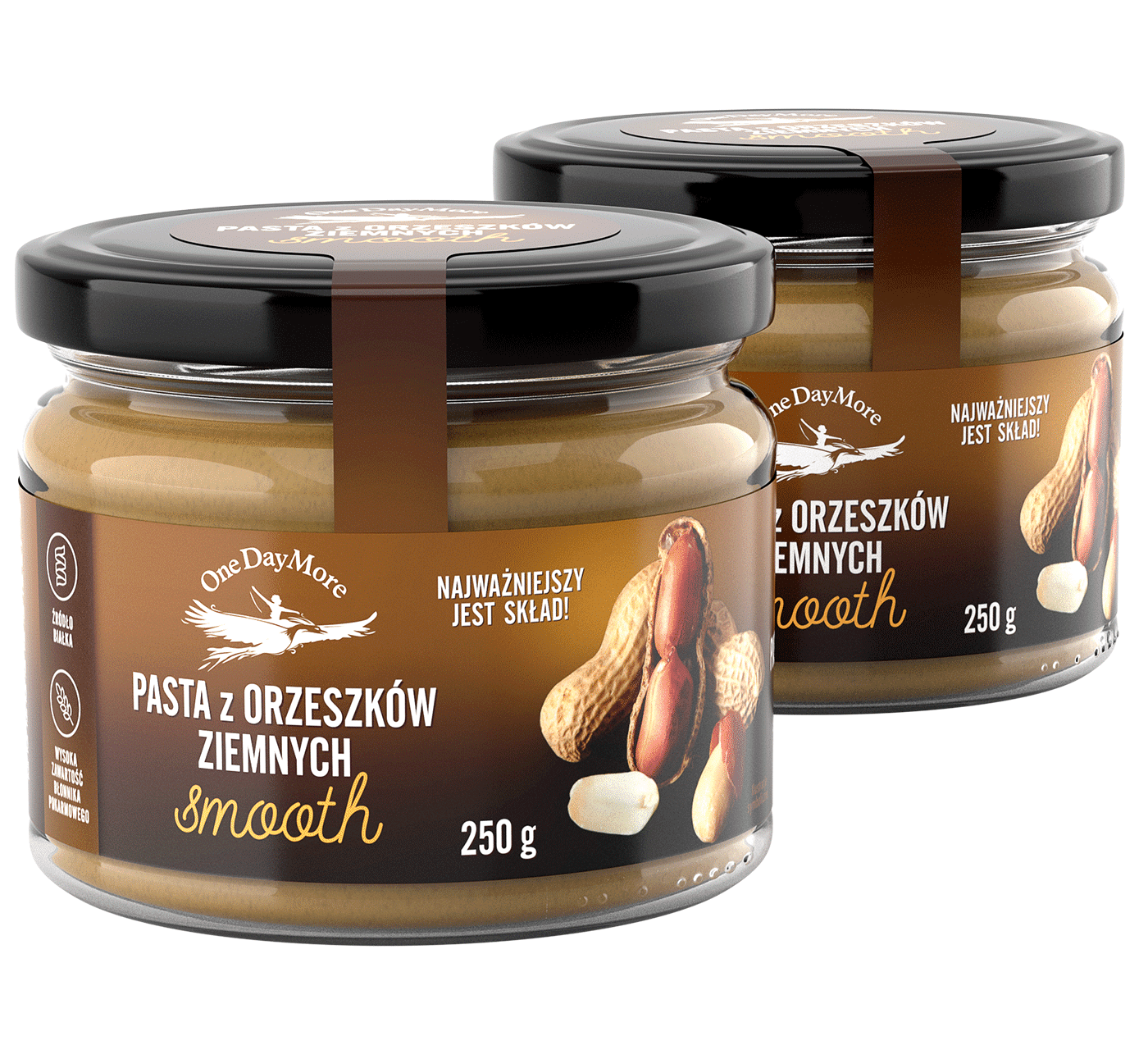 Pasta z orzeszków ziemnych Smooth Zestaw OneDayMore