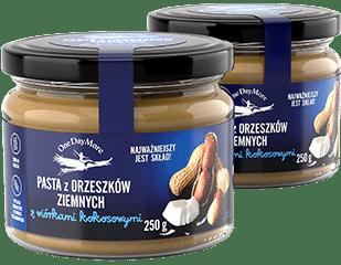 Pasta z orzeszków ziemnych z kokosem Zestaw OneDayMore