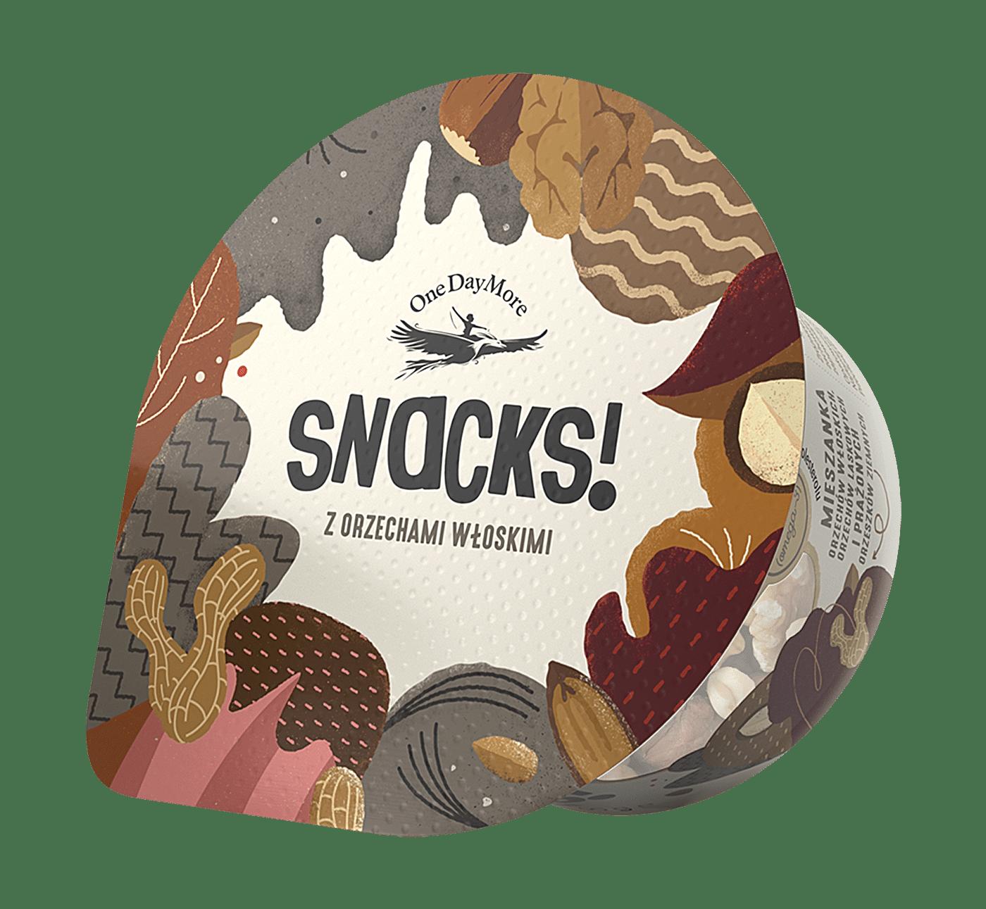 Kubek Snacks! z orzechami włoskimi