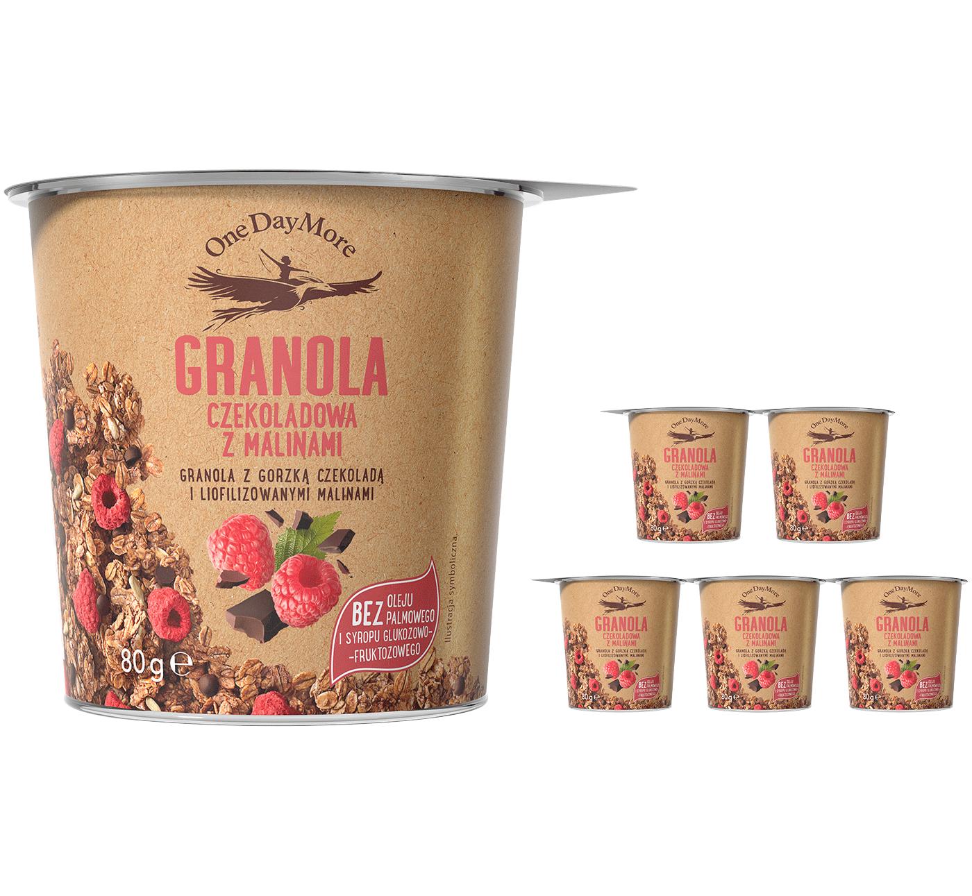 granola-czekoladowa-z-malinami-zestaw-kubkow-przod-onedaymore-45×100
